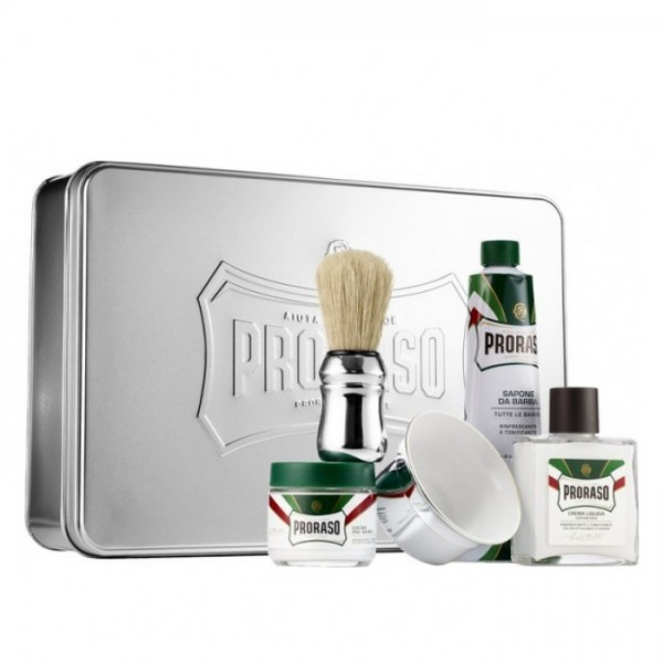 Proraso Classic Shaving Set Kit Metal